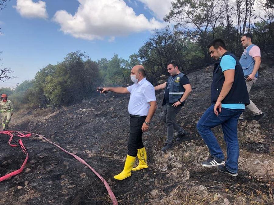 Biga Kaşıkçıoba Ve Kalafat Köyleri Arasında Orman Yangını Çıktı