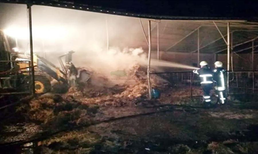 Dereköy'de Çiftlikte Çıkan Yangın Korkuttu